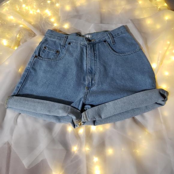 chazz Pants - High waisted denim chazz shorts size 11